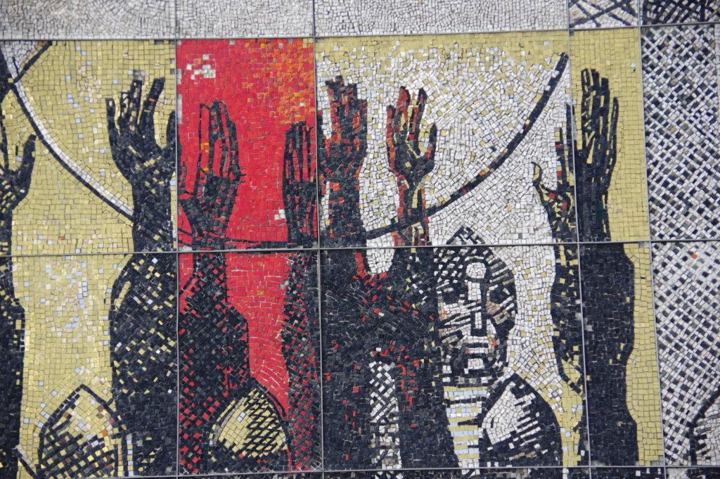 Mosaik am Monument «1300 Jahre Bulgarien» in Schumen